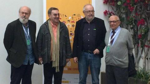José Luis Cuerda, Pedro Olea, José Luis García Sánchez y Juan José Daza.